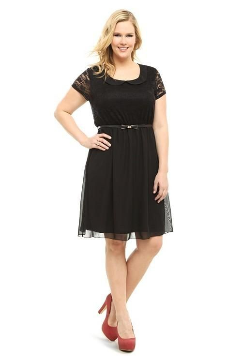 Black Peter Pan Collar Dress. Torrid Plus Size, little black ...