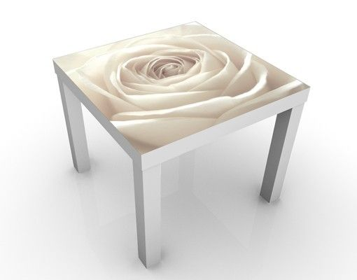 Design #Tisch Pretty White Rose 55x55x45cm #wohnzimmer #ideen