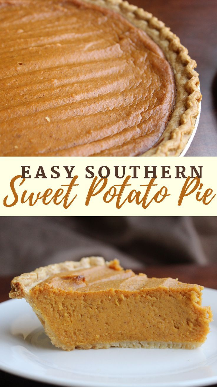 Sweet Potato Pie Recipe - Easy Southern Sweet Potato Pie