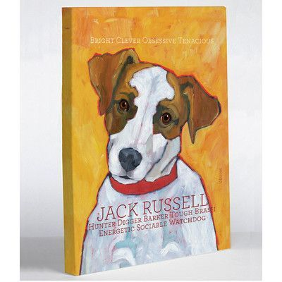 Winston Porter Jack Russell 2 Wrapped Canvas Print On Canvas Wayfair Jack Russell Jack Russell Terrier Pitbull Terrier