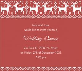 Christmas Card Designs XMAS SWEATER Square Red Seasonal Winter - Party invitation template: winter party invitation template