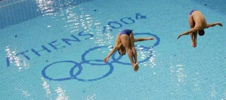 2004 Men's synchronized diving. Athens, Greece