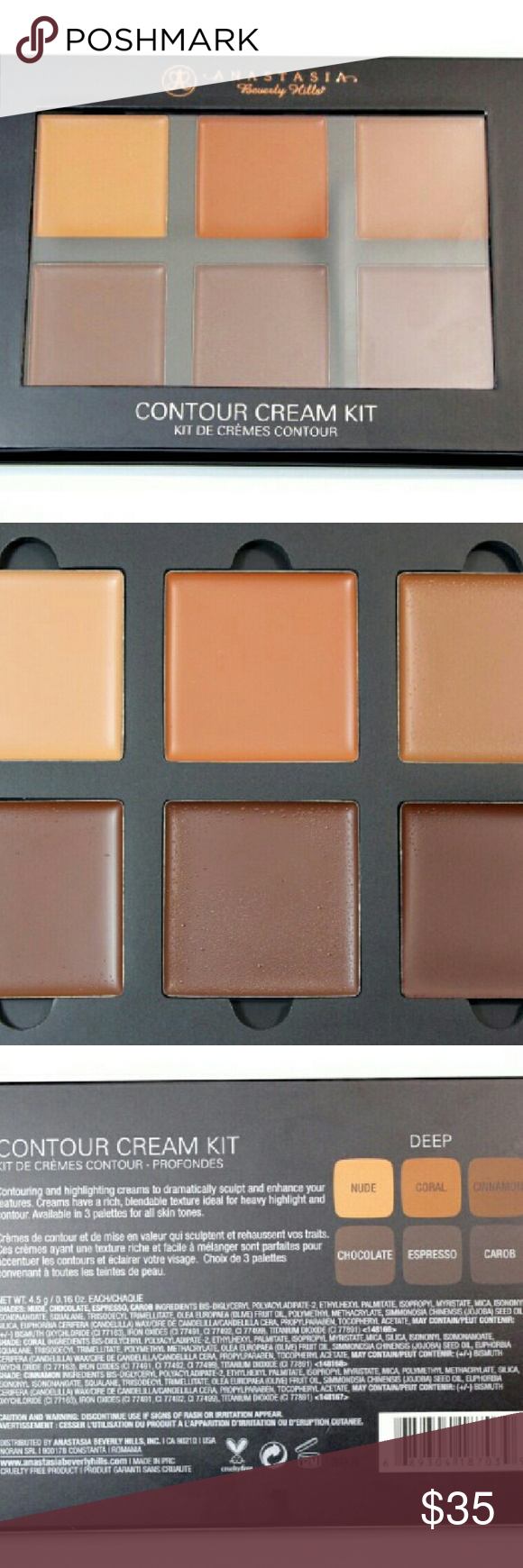 Anastasia Beverly Hills Cream Contour Kit In Dark The Abh
