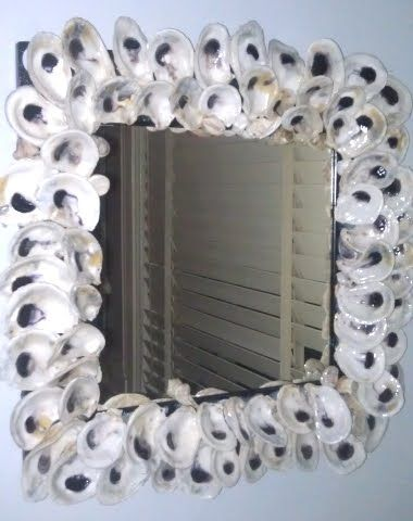 Coastal Decor Beach Nautical Diy Decorating Crafts Ping Completely Blog Decorate Mirror Frame Like Currey And Company S Oyster