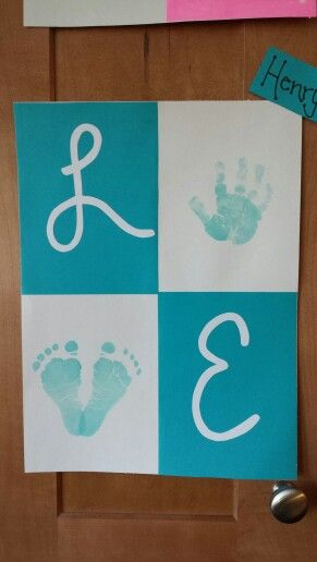 Love Handprint Footprint Art Baby Shower Or Bridal Using Bride