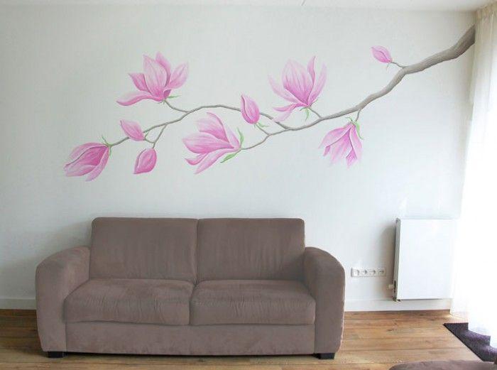 muurschildering bloemen - Google zoeken - Muurschiℓderingen ...