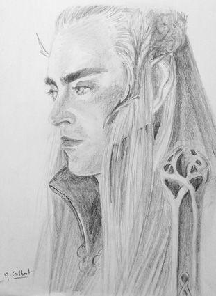 Trandhuil roi des elfes le seigneur des anneaux http - Dessin seigneur des anneaux ...