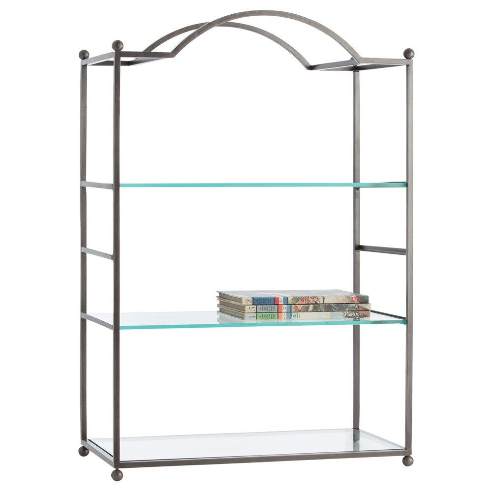 Arteriors 2024 Shannon Etagere In Natural Iron Iron Shelving  # Etagere Cache Cable