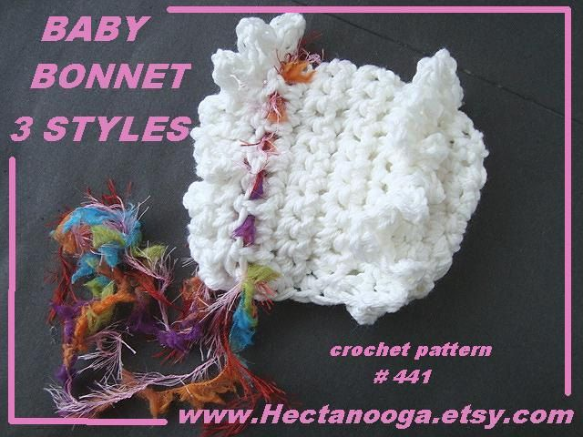 b3a340eb3 Baby Hat Crochet Pattern Baby Bonnet Christening by Hectanooga ...