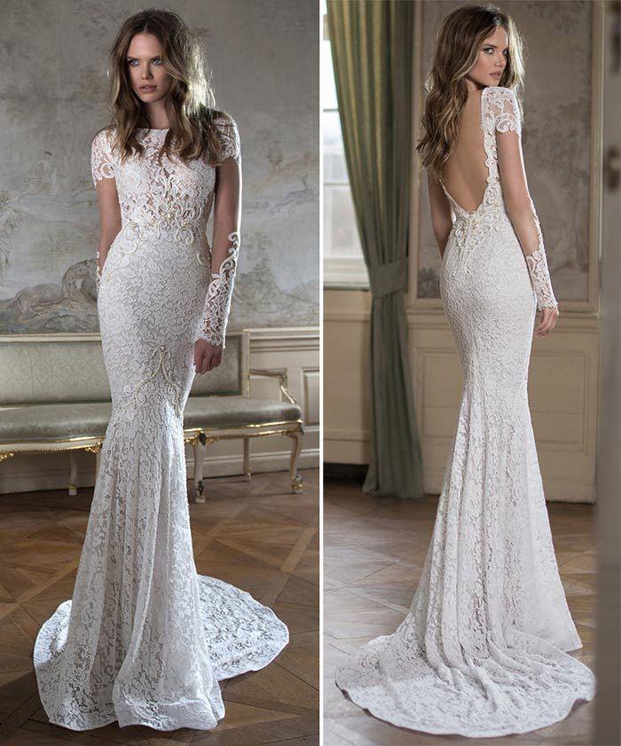 3512c8e77 Vestido de renda com manga longa - noivas Vestidos De Noiva Sereia, Vestido  Noiva,