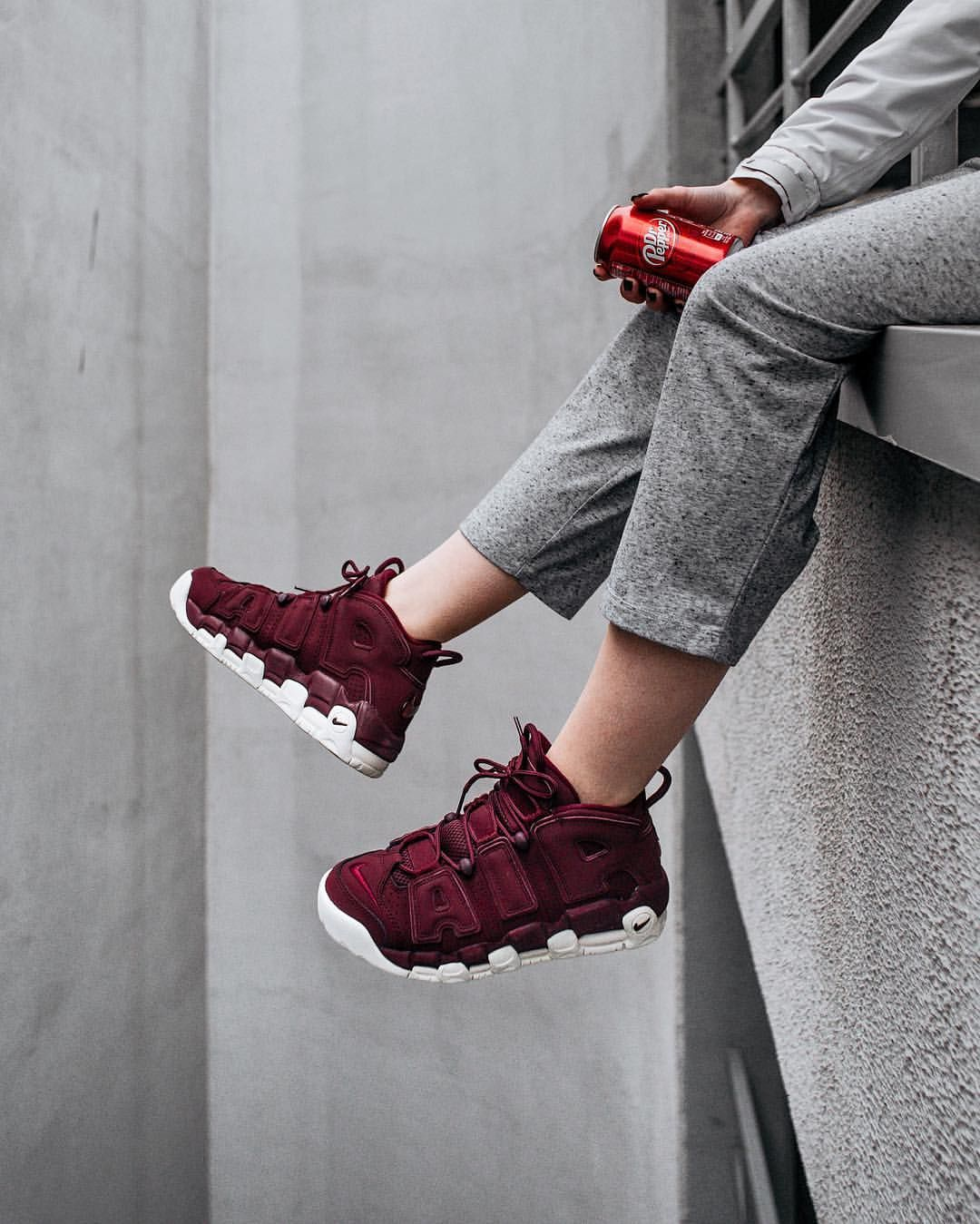 Nike Air More Uptempo Night Maroon | Sneakers Nike Uptempo | Pinterest | Clothing