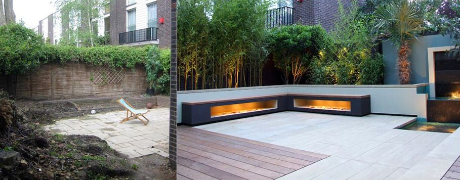 Before And After Of Regents Park Garden Garden Pinterest - Contemporary garden ideas uk