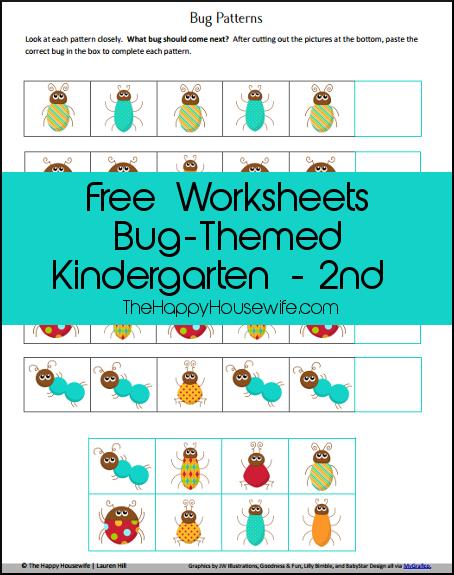 Bug Unit Study Worksheets and Printables | Worksheets, Scissor ...