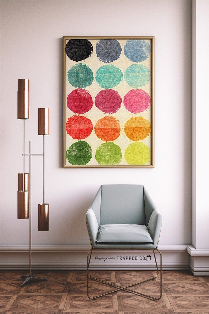 Colorful Abstract Circles Contemporary Wall Art Primary Colors | Frame  Download, Contemporary And Walls