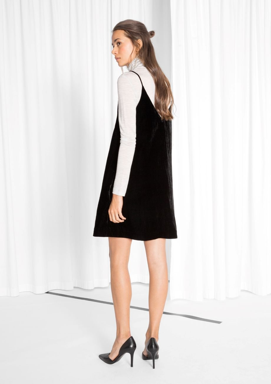 aa812d23a576 Other Stories image 3 of Strap Velvet Dress in Black