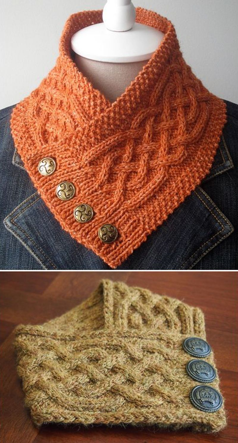 Photo of Celtic Cable Neckwarmer – Free Pattern