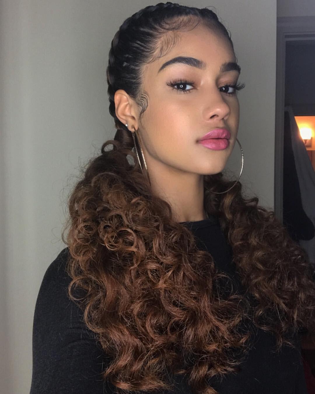 Ig Baddie Curly Hairstyle Natural Hair