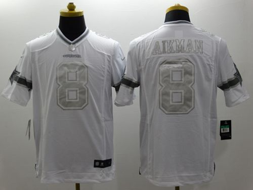 626a9b73b Nike Cowboys  8 Troy Aikman White Men s Stitched NFL Limited Platinum Jersey  And Bengals John Ross 15 jersey