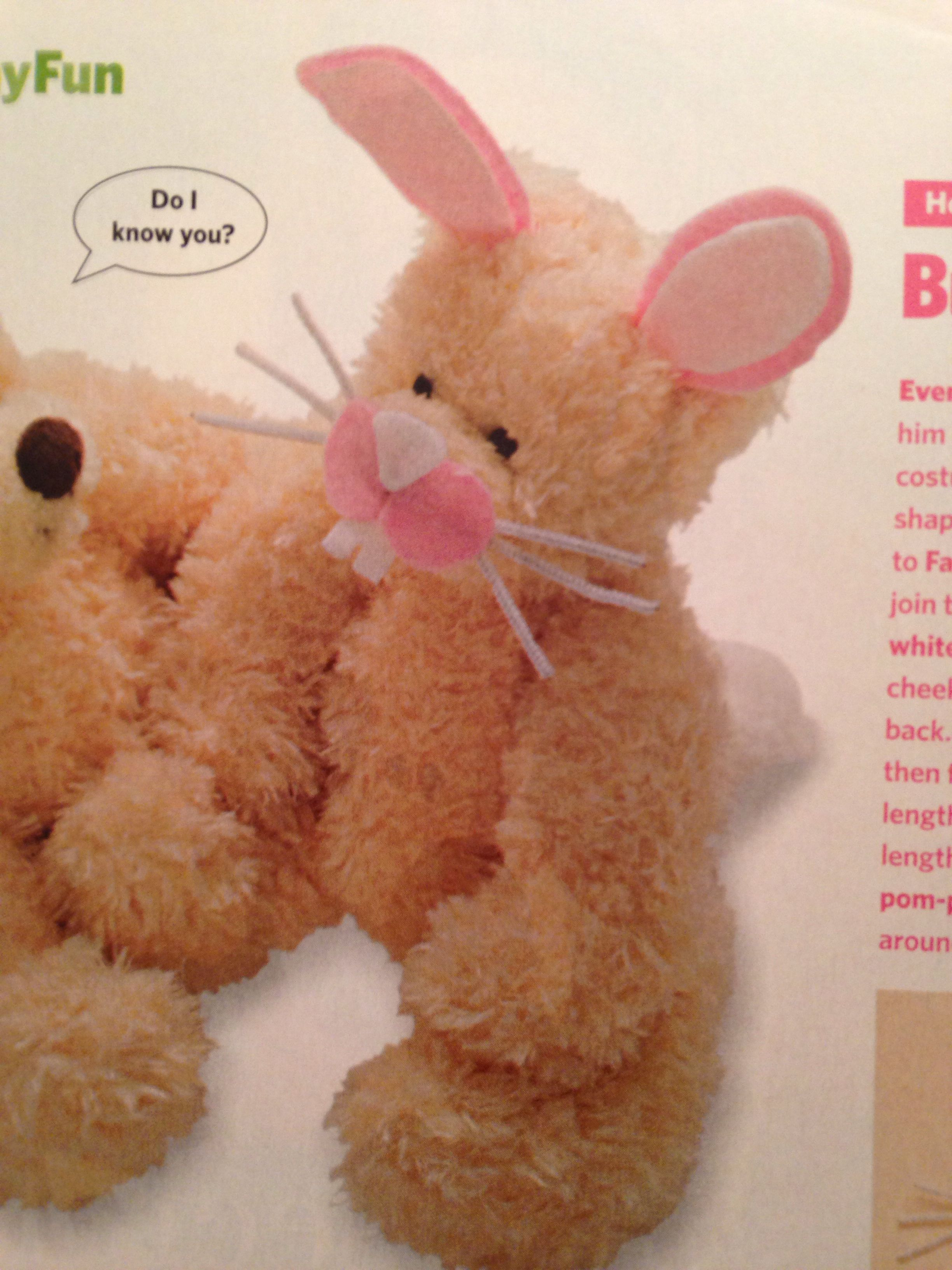 Disguise a teddy for easter cute idea from an old family fun disguise a teddy for easter cute idea from an old family fun magazine negle Gallery