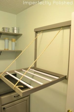 laundry room drying rack down by caitlin | Organization | Pinterest ...