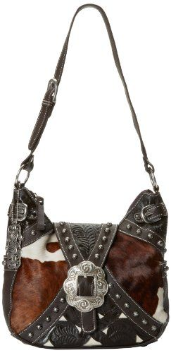 16ad1dd7d51c American West Zip-top Western Hobo Bag Purse 620 (Many Colors) (Wild Horses)