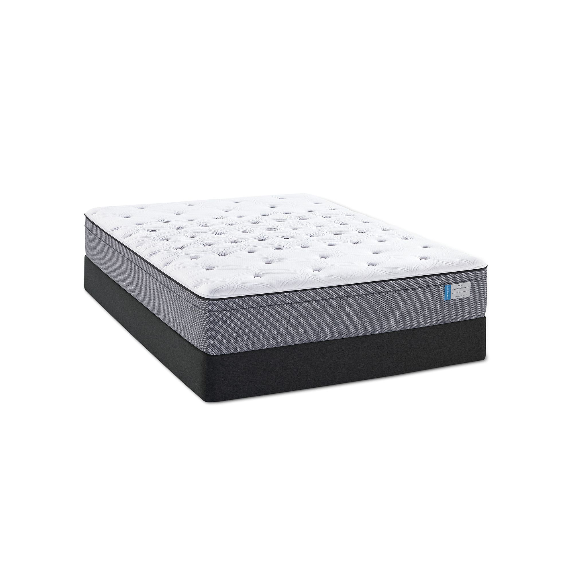 sealy posturepedic drover cushion firm mattress set white