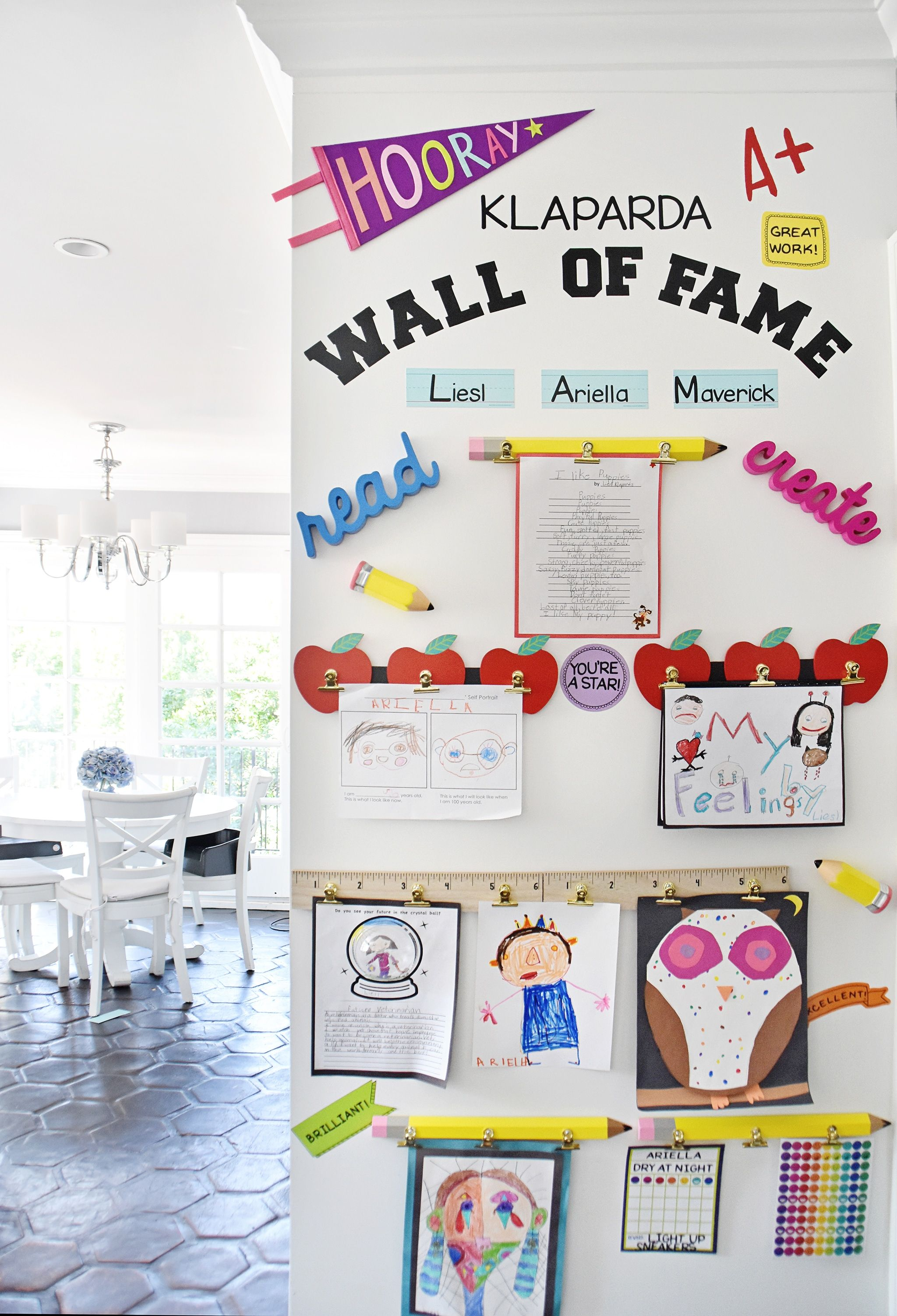 Make A Diy Display For Your Kids Schoolwork And Art Projects