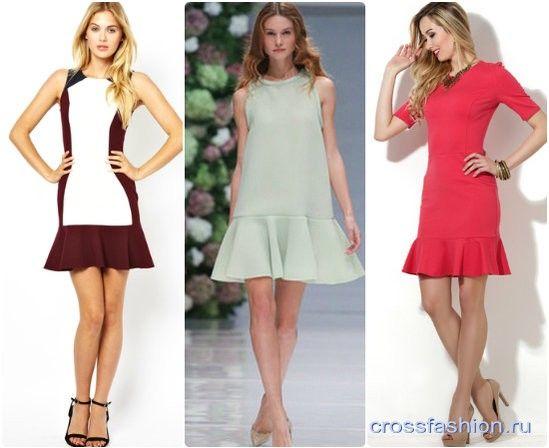 Как сшить платье с юбкой с воланами