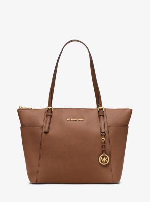 a3167f825ecfe Jet Set Large Top-Zip Saffiano Leather Tote
