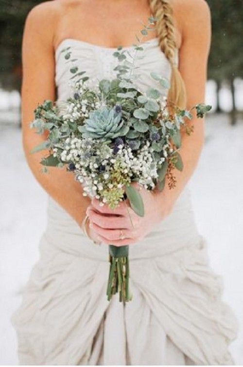 27 Darling Greenery Wedding Bouquets Weddingomania