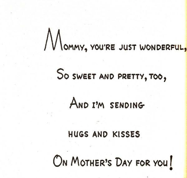 Sweet Things To Write On Mothers Day Cards Mothers Day
