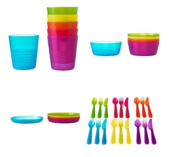 Ikea Kalas Naczynia Dla Dziecka 36szt Koloroweikea 5719051995 Oficjalne Archiwum Allegro Kids Plastic Bowls Kids Tableware Kids Dinner Sets