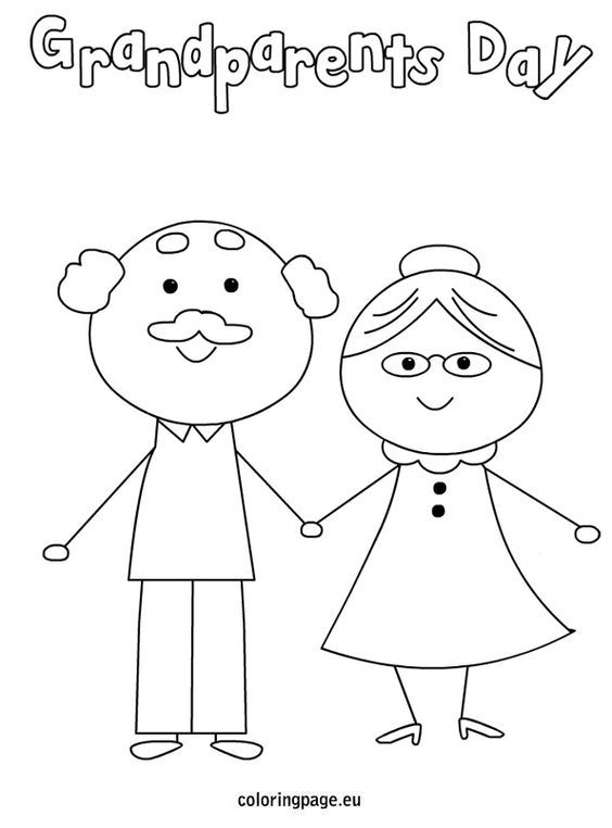Grandparents day coloring page: | Education | Pinterest ...