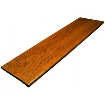 Best 36 Red Oak Gunstock Retro Tread Wood Stair Treads Wood 400 x 300