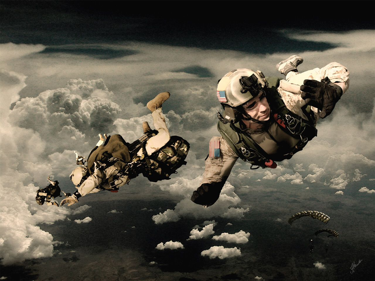AFSOC PARARESCUE (PJs). REAL HEROES. U.S. Air Force