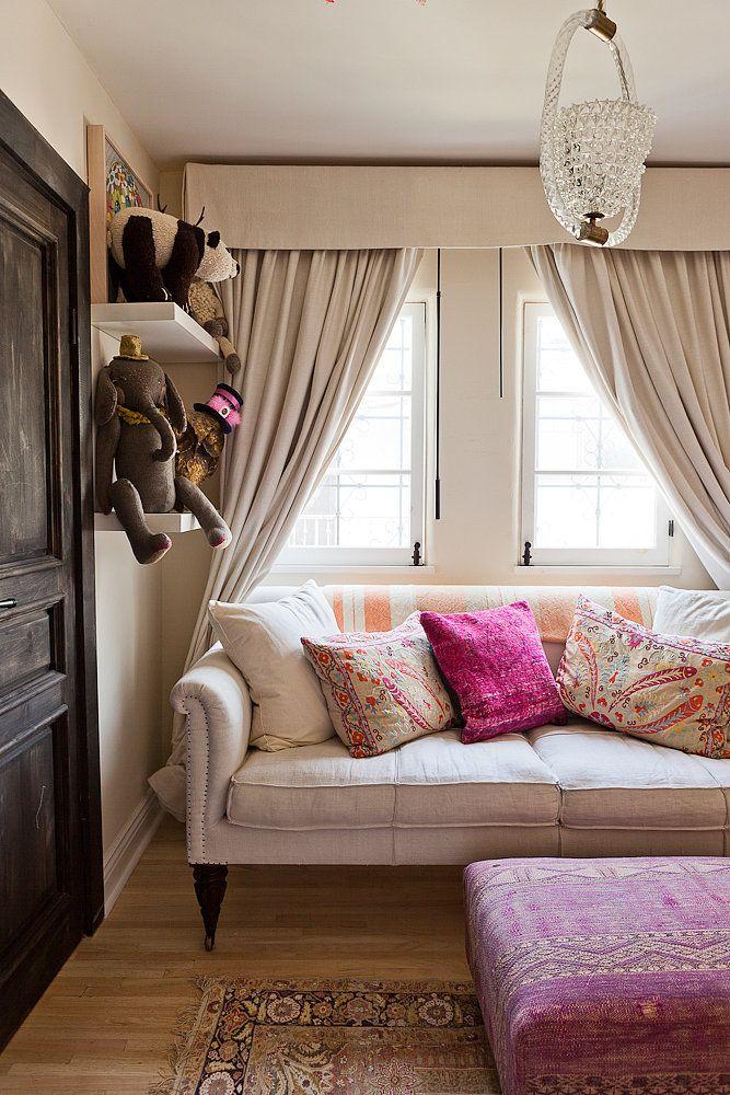 Rustic Window Treatements Living Room