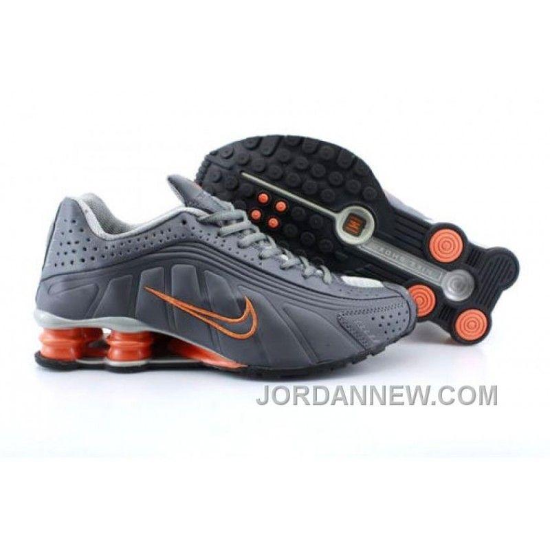 Men's Nike Shox R4 Shoes Dark Grey/Orange Free Shipping, Price: $75.93 -
