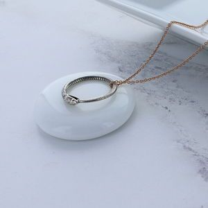 Silver And Rose Gold Snake Ring Necklace - what's new