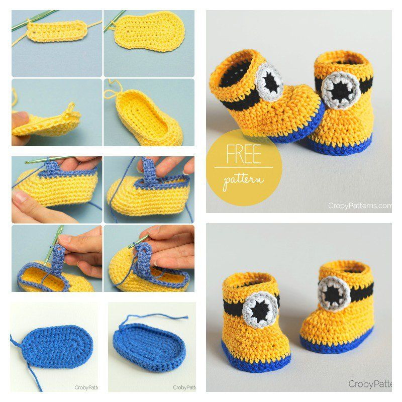 Minion Crochet Booties With Free Pattern Minion Crochet Free Magnificent Free Minion Crochet Pattern