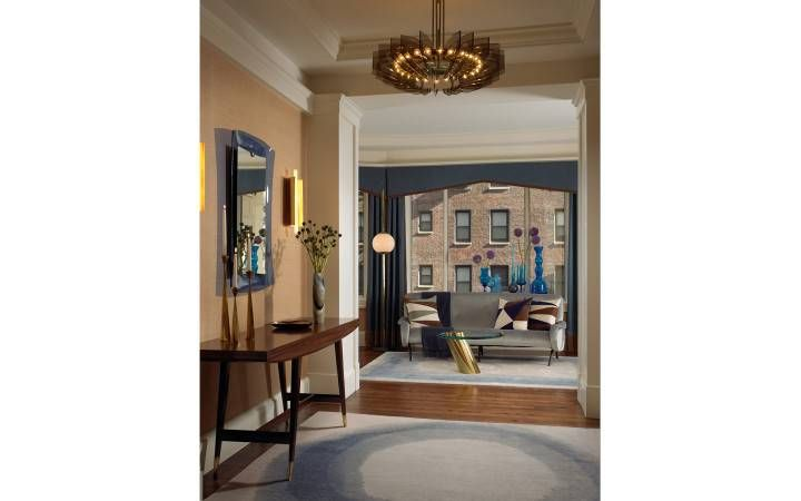 Foyer Ideas For Townhouse : Chicago residence foyer entry interior design amy