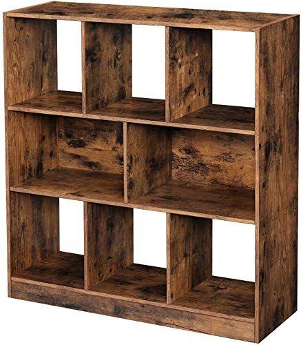 Photo of The VASAGLE Scaffali per cubi aperti in legno, Scaffale a scaffale autoportante Espositore, Soggiorno, Sala studio, 33,9 x 11 x 37,2 pollici, Marrone rustico ULBC52BX acquisti online – The108Ideashits