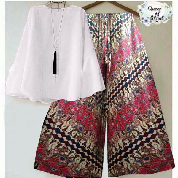 Beli YN set kulot batik dari Frozen Shop gllory  - Jakarta Pusat hanya di  Bukalapak 3bb548653b