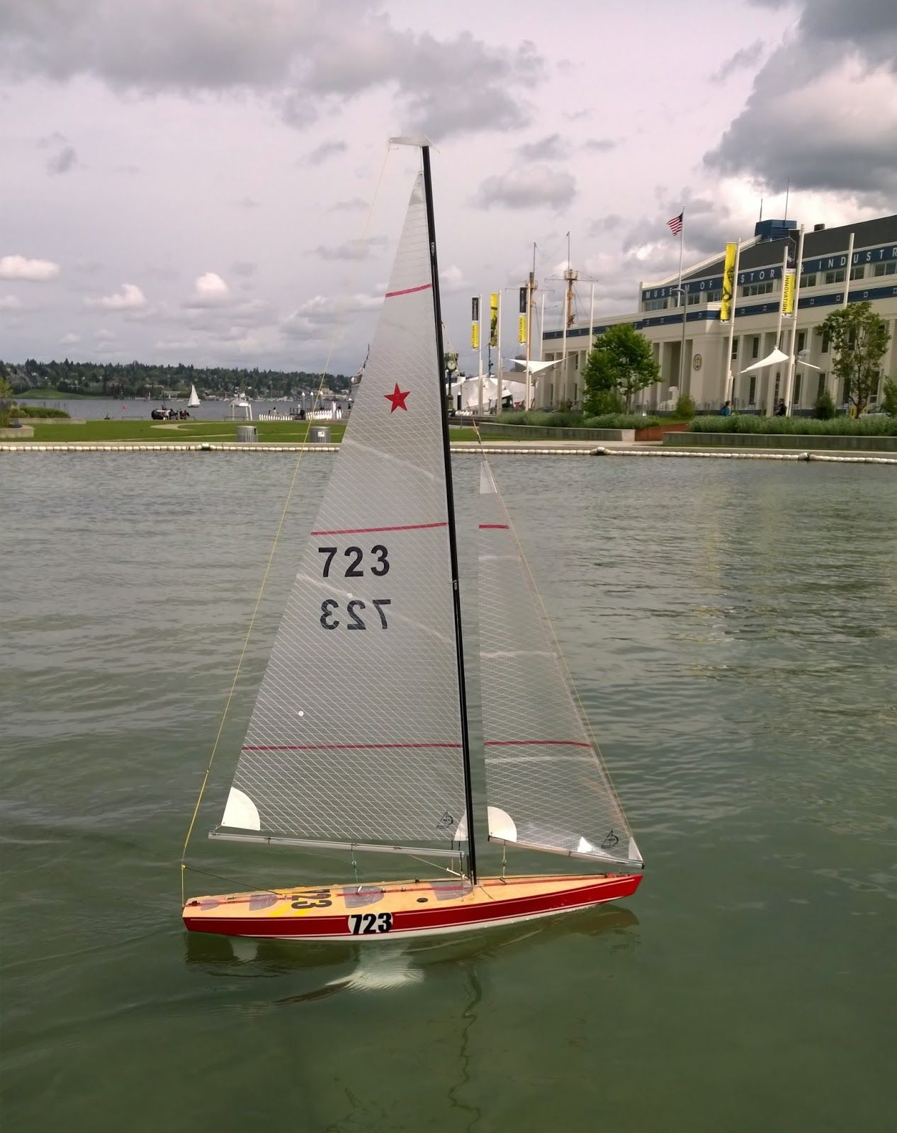 Star 45 RC Sailboat on her maiden voyage | saildoat | Sailing ships