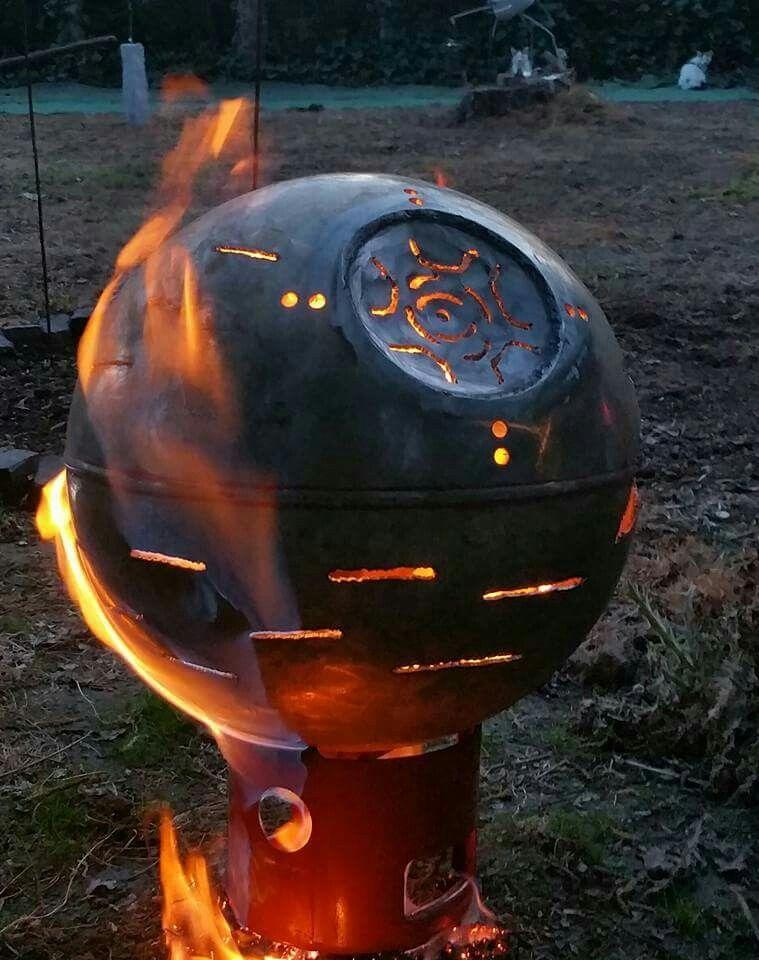 Möge die Macht mit dir sein Todesstern Feuerschale Feuerstelle - feuertonne selber machen