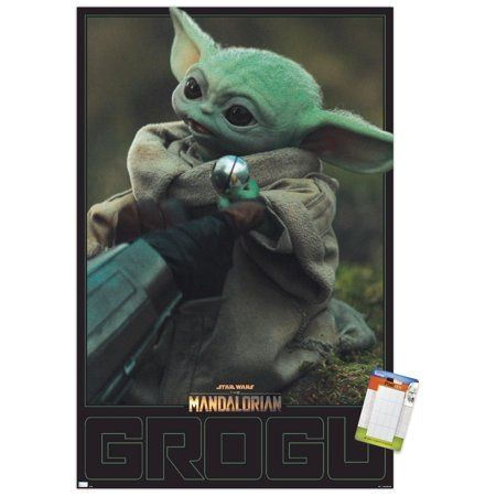 Star Wars The Mandalorian Season 2 - Grogu Wall Poster Size: 22.375 inch x 34 inch, Multicolor