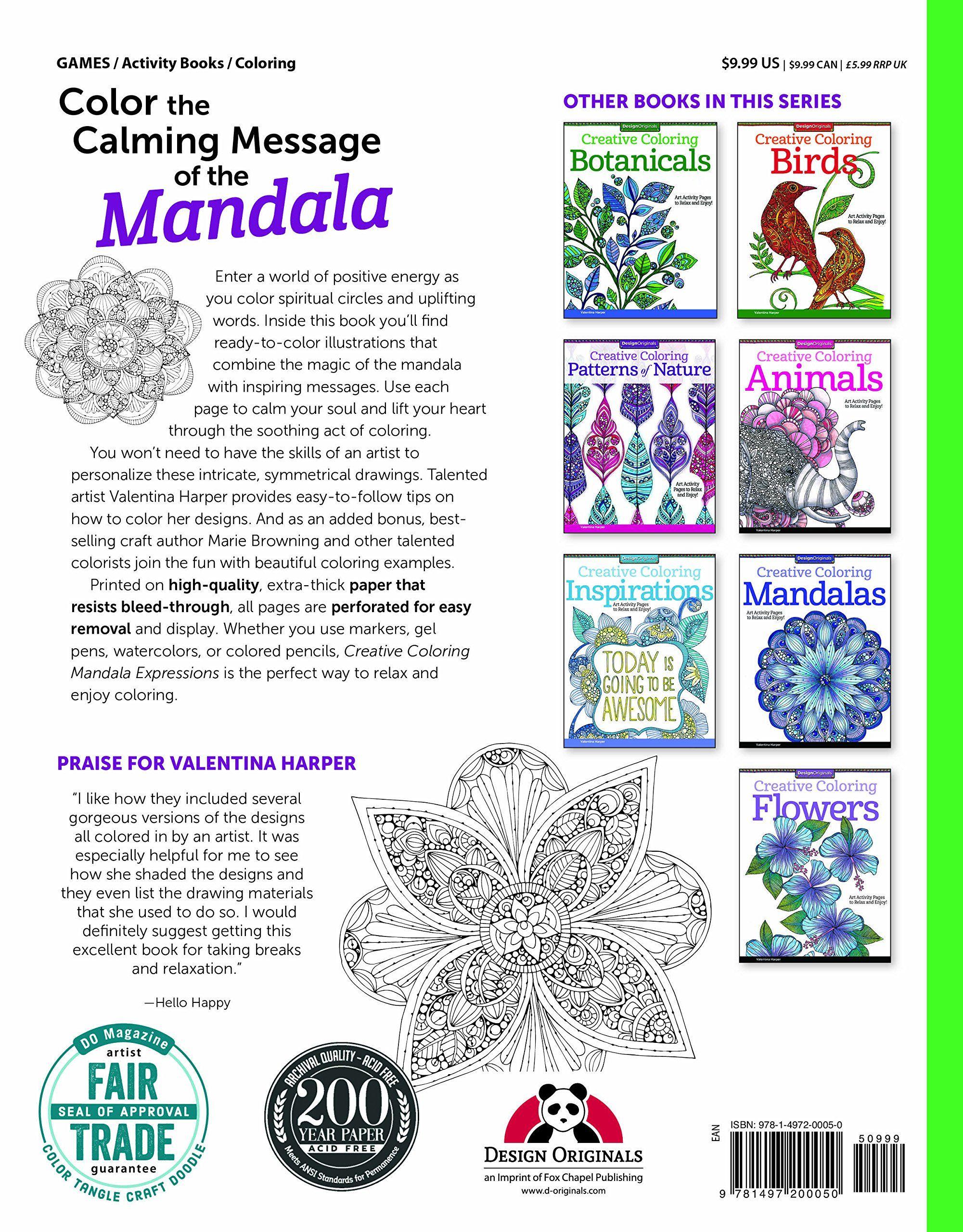 Creative Coloring Mandalas Children\'s Books Art Activity ...