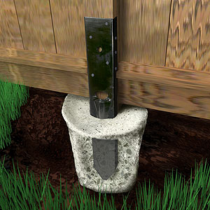Are There Any Advantages To Using Metal Post Spikes Set In Concrete When Building A Privacy Fence Home Impr Diy Fence Diy Backyard Fence Setting Fence Posts