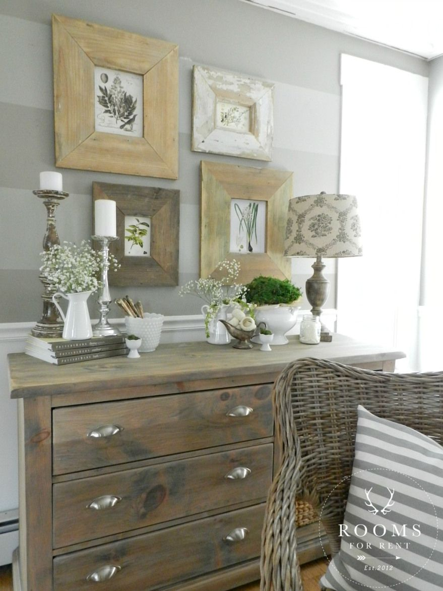 Favorite things friday beachy farmhouse tour favorite for Bedroom dresser decor