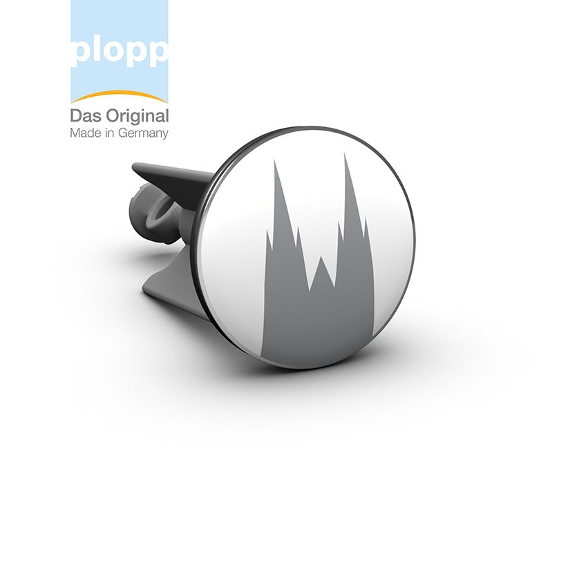 Plopp Waschbeckenstöpsel Kölner Dom #Köln #Koeln #Kölsch #Living #Badezimmer  #Bad