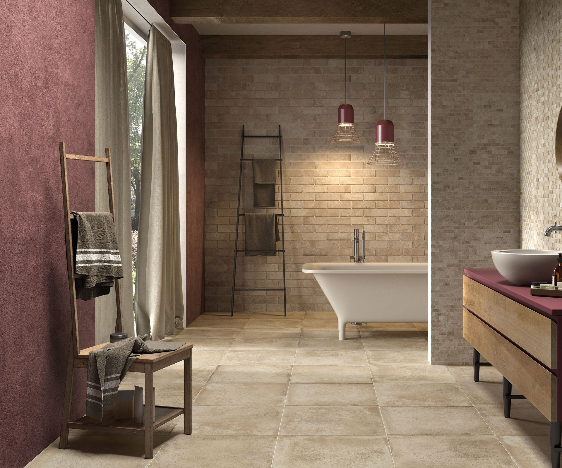 Ricchetti Cotto Med 1 Bathroom Public Spaces Living Room Outdoors Terracotta Effect Effect Brick Effect E Brick Bathroom Porcelain Tile Bathroom Bathroom